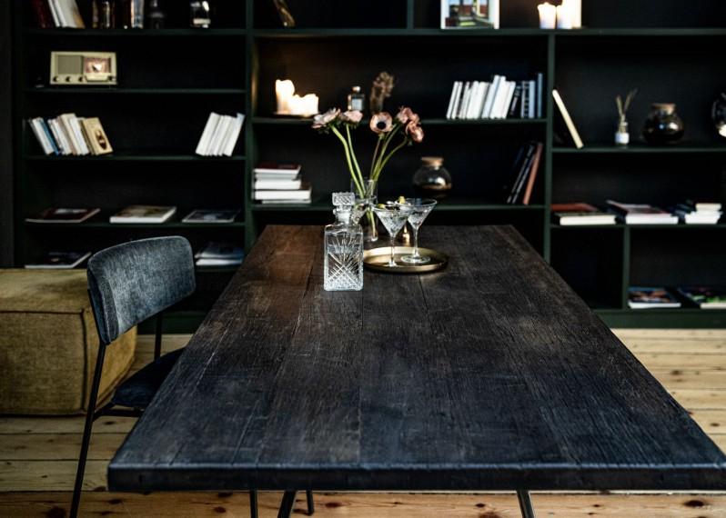 Plateau de table CARACAS à partir de vieux fond de wagon en bois exotique