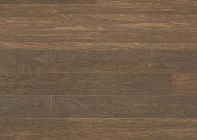 Sol plaqué bois Afromorsia brossé vernis mat - Lounge - Select 8x124x1203