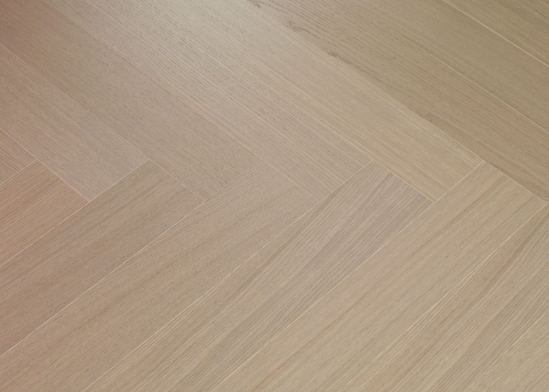 Sol plaqué bois chêne Catane Bâton rompu brossé vernis mat - Twist - Select