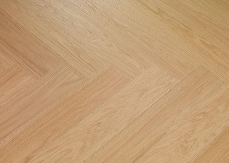 Sol plaqué bois chêne Côme Bâton rompu brossé vernis mat - Twist - Select