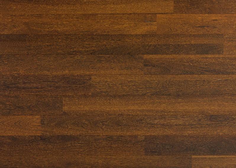 Sol plaqué bois Sucupira vernis satiné - Lounge - Select 8x124x1203