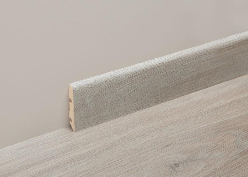 Accessoire profil melamine plinthe basse 60mm - longueur: 2400mm - PEFC