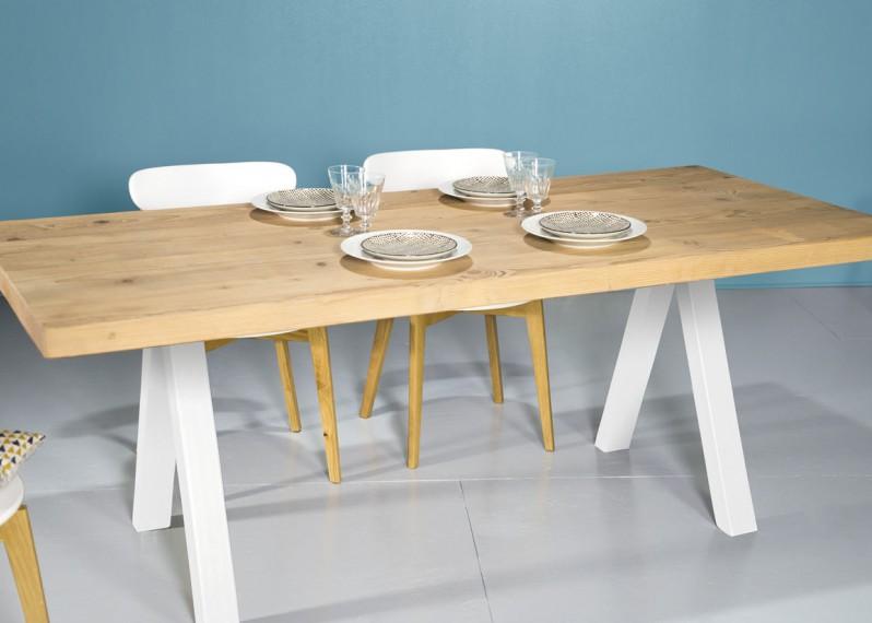 Plateaux de table en bois sur mesure la parqueterie nouvelle - Plateau bois brut pour table ...