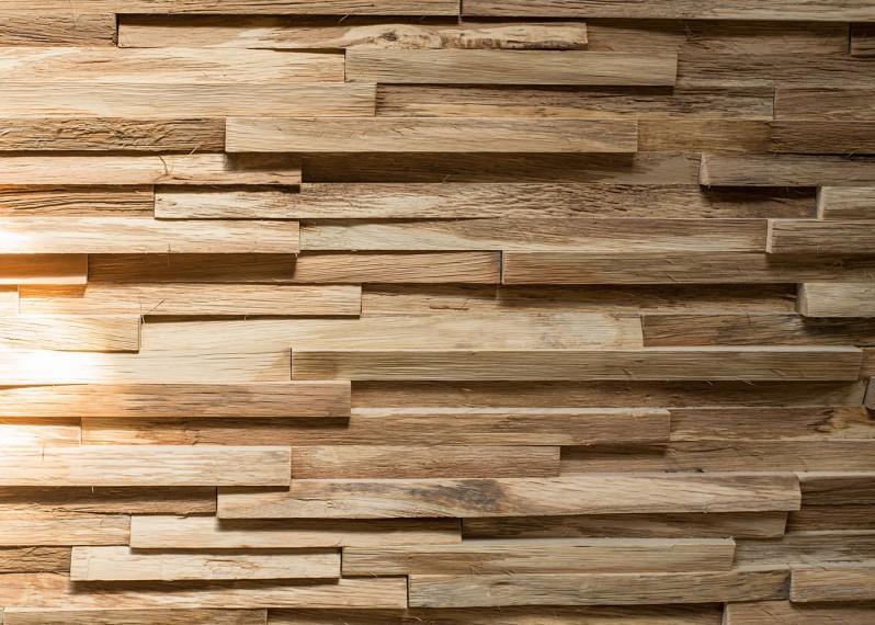 Bardage Déstructuré Wood Lab en Chêne fabriqué à la main avec des résidus de bois