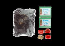 Clip Kit Fixation Invisible (Chêne/ Frêne Thermo/Acacia) (clip + vis  pour environ 10 m2 )