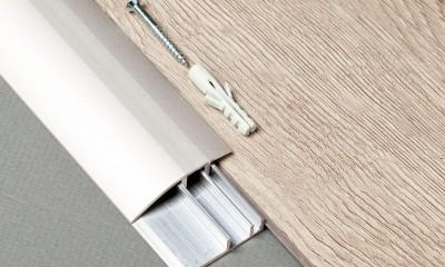 Profilé Barre de seuil pour sol vinyle LVT, support aluminium , couleur argent, bronze ou champagne