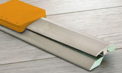 Profilé 3 en 1 pour sol vinyle LVT, support MDF