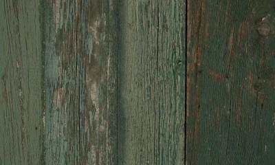 Bardage Bois Us Raboté Campagne Vieilli Peinture D'Origine Vert Léger Chant Ancien ou Déligné