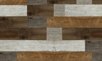 Bardage Monolame Bois Us Petit Patchwork Campagne Vieilli Gris/Marron/Blanc