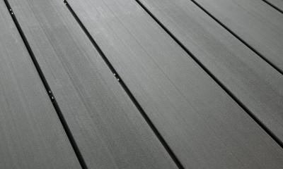 Bois Composite Teinte Gris Anthracite Lisse Fixation Invisible