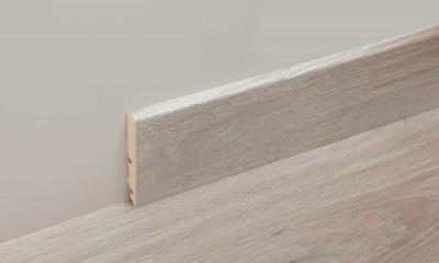 Accessoire profil mélaminé plinthe haute 80mm - longueur: 2400mm - PEFC