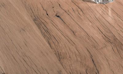 Banc en bois OSTENDE à partir de vieux fond de wagon en chêne - raboté 2mm brut - longueur max 2700m