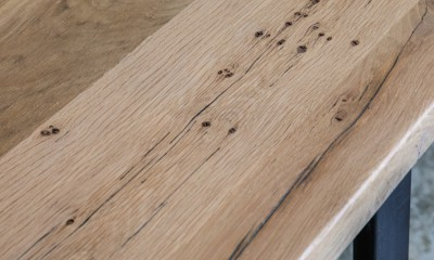 Plateau de table GIBRALTAR à partir de vieux fond de wagon chêne raboté 4mm brut (longueur max 2600mm)